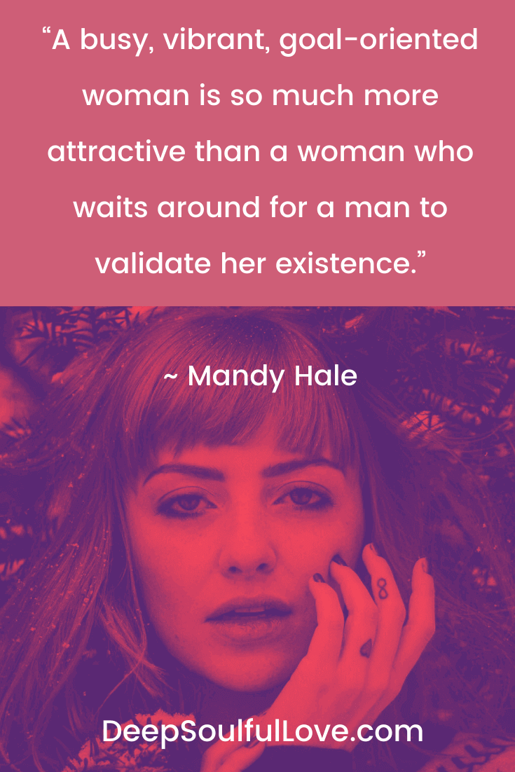 Mandy Hale Busy Vibrant Woman Quote