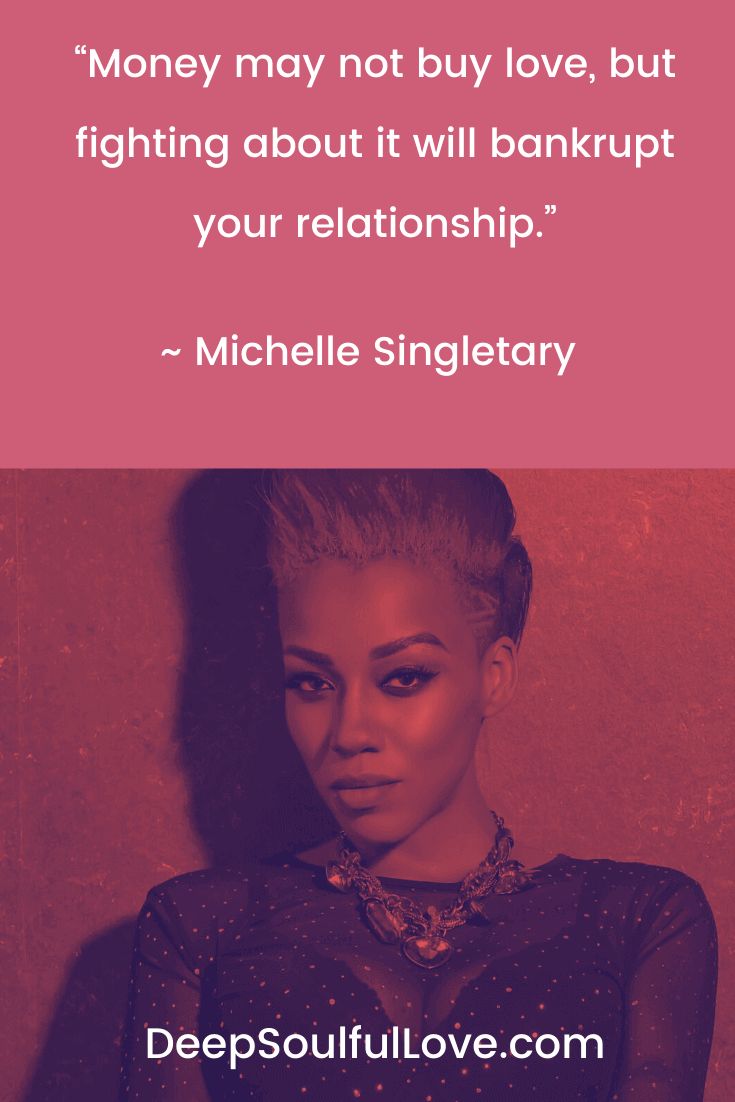 Michelle Singletary Money May Not Buy Love Quote