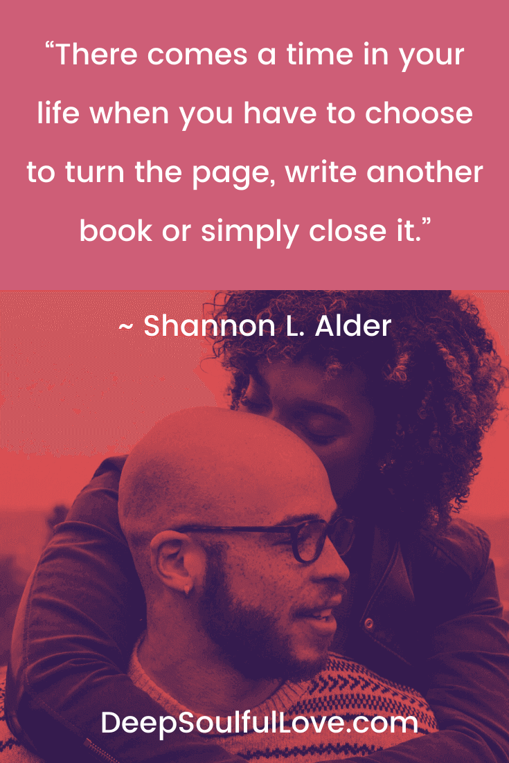 Shannon L Alder Turn the Page Quote