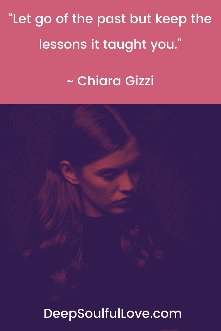 Chiara Gizzi Let Go of the Past Quote