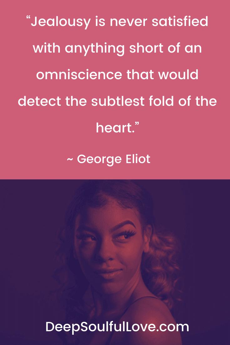 George Eliot Jealousy Quote