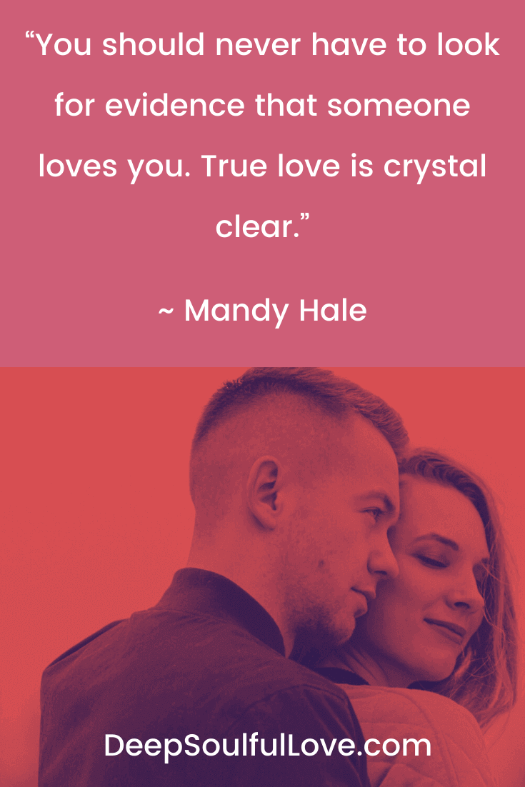 Mandy Hale True Love is Crystal Clear Quote True Love is Crystal Clear Quote