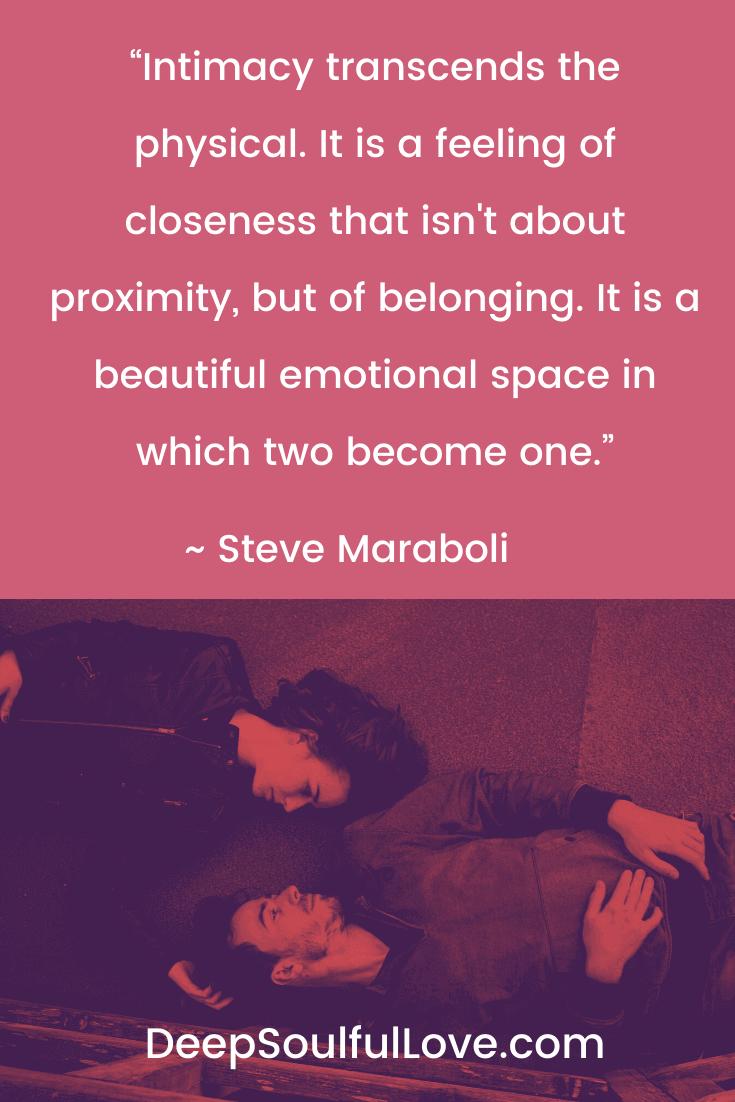 Steve Maraboli Intimacy Quote