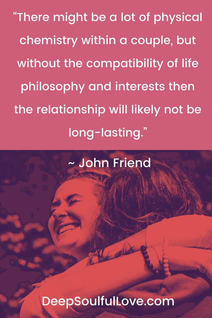 John Friend Chemistry and Compatibility Quote