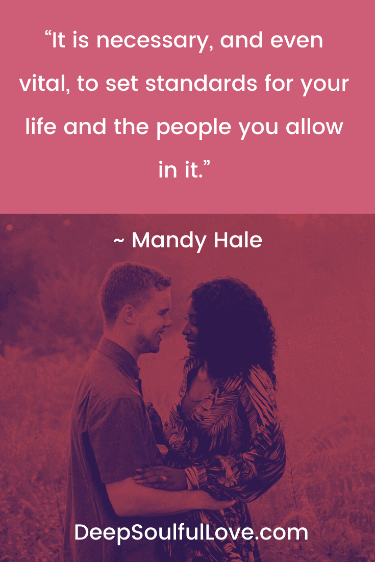 Mandy Hale Standards Quote