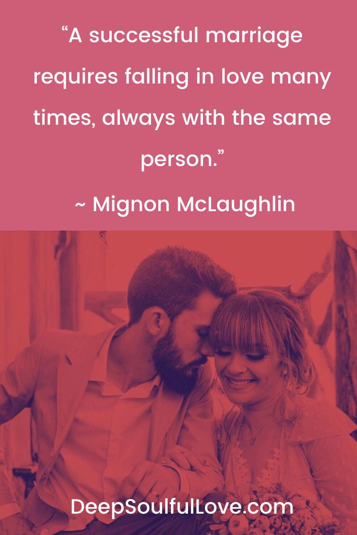 Mignon McLaughlin Successful Marriage Quote
